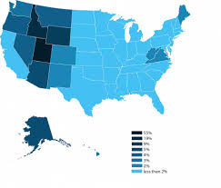 Where Is New Mexico On The Map by Top 10 States With The Most Mormons Utahvalley360