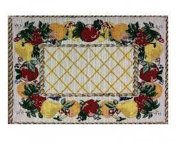 fruit design table mats set of six table linen kitchen