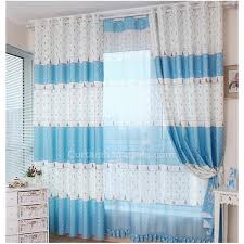 colorful bedroom curtains cute curtains in white and blue color design for children bedroom