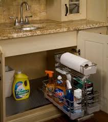 Under Kitchen Sink Pull Out Storage by How To Organize Under The Kitchen Sink Organization Kitchen