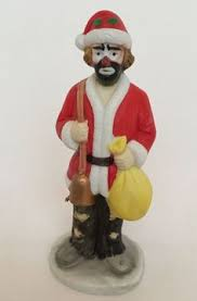emmett kelly golfer porcelain clown tree holiday ornament mib