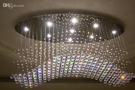 High Quality Chandeliers Wonderful Crystal Modern Chandelier Oval Curtain Wave Modern