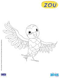 poc coloring page from zou the cute little zebra tv serie more