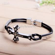cross bracelet mens images Cross bracelet leather images jpg