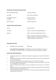 nursing resume objective registered resume objective tgam cover letter