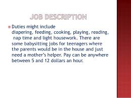 babysitting jobs for 14 year olds