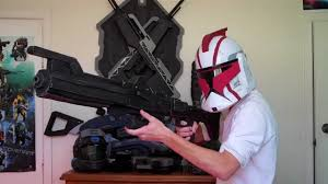 clone trooper wall display armor star wars clone trooper dc 15 blaster rifle film prop real youtube