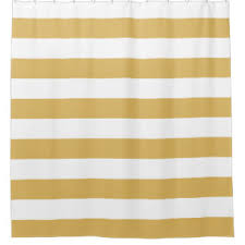Yellow And Navy Shower Curtain Wide Stripe Shower Curtains Zazzle