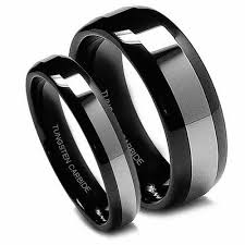 black wedding rings black wedding bands bold and beautiful jewelry
