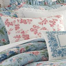 Laura Ashley Bathroom Furniture by Laura Ashley Olivia Chambray Blue Floral Comforter Bedding