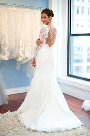 wedding dress lace back and sleeves white lace open back wedding gown with back buttons