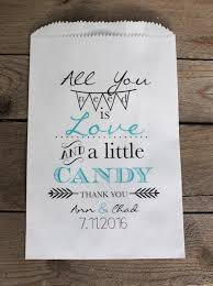 all you need is love wedding favor bags candy buffet bags wedding
