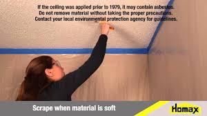Repair Popcorn Ceiling Texture Youtube