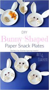 diy bunny shaped snack plates