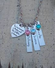 s day necklace with children s names handcrafted artisan jewelry ebay