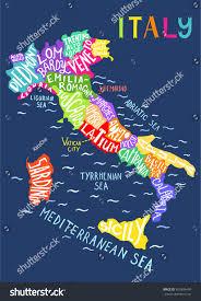 Ferrara Italy Map by Italy Regions Map Unique Decorative Map Stock Vector 403599499