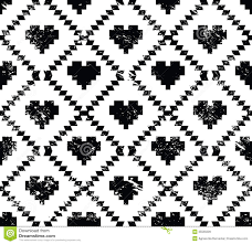 Tribal Print Wallpaper by Seamless Aztec Tribal Pattern With Hearts Grunge Retro Style