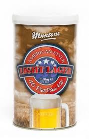 Muntons American Style Light Lager Hopped Can Beer Recipe Kit