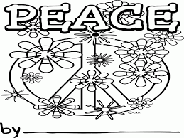 free printable peace sign coloring pages coloring home