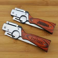 groomsmen knives personalized gun knife with led pocket knife engraved
