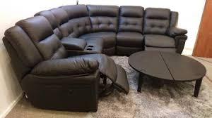 Black La Z Boy Power by La Z Boy Nashville Black Leather Power Reclining Corner Sofa