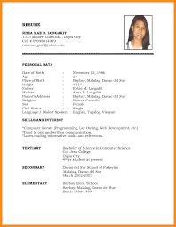 official resume format official resume format cover letter formal free in ms