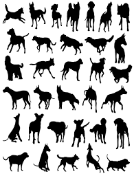 cats and dogs silhouette vector free vector 4vector