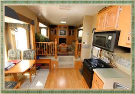 5th wheel with living room in front stylish front living room 5th wheel travel trailers home decorations