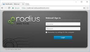 webmail radius web tools