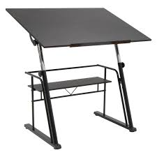 studio designs solano adjustable glass drafting table hayneedle
