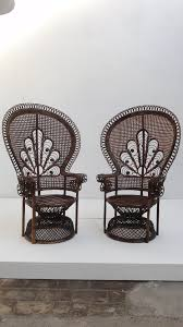 Cane Peacock Chair For Sale Pair Of Iconic Soft