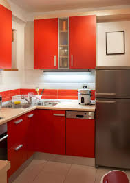 L Kitchen Ideas by Kitchen Bright Small Kitchen Design With L Shape Red Small