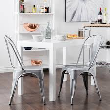 High Back Chairs by Amazon Com Belleze Set Of 4 Vintage Style Dining Chairs Steel