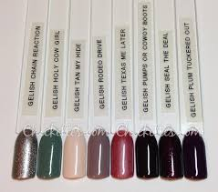 gelish urban cowgirl collection color comparisons u0026 fade report