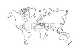 55 999 world map outline cliparts stock vector and royalty free