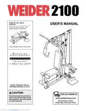 Weider 215 Bench Weider 2100 Manuals
