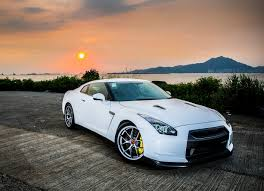 nissan gtr side view gorgeous white pearl 2007 nissan gt r premium edition in honk kong