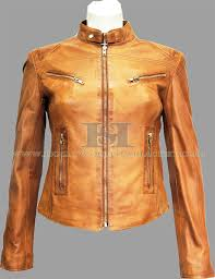 light brown leather jacket womens joan tan women s vintage real sheep washed waxed leather jacket