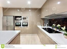 cuisine de luxe moderne intérieur de la cuisine moderne dans une maison de luxe image stock