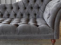 Velvet Chaise Lounge Naples Velvet Chesterfield Chaise Lounge Abode Sofas