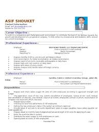 Reconciliation Accounting Resume Cv For The Post Of Payroll Accountant Docshare Tips
