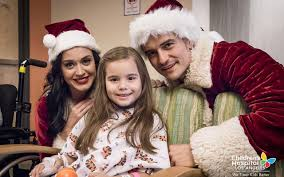 katy perry and orlando bloom dress up as father christmas and mrs