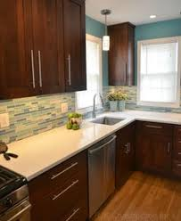 brown and turquoise backsplash tiles the turquoise and the
