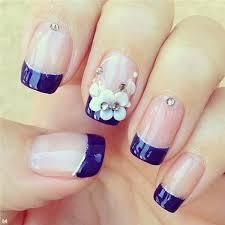 50 blue nail art designs top flowers dark blue and dark