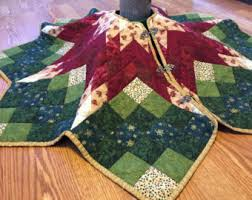 poinsettia tree skirt pattern traditional tree skirt