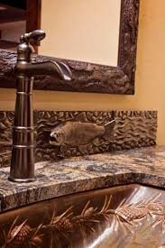 best 25 lodge bathroom ideas on pinterest hunting lodge fish back splash sugar bowl custom residence frontier builders