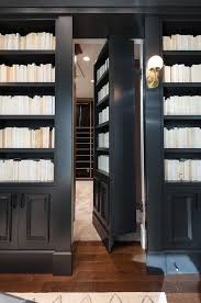 Office Bookcases With Doors Secret Bookcase Door Transitional Den Library Office
