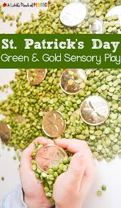st patrick u0027s day green u0026 gold sensory play