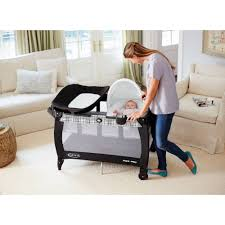 Playpen Bassinet Changing Table Graco Pack N Play Newborn Napper With Soothe Surround Technology
