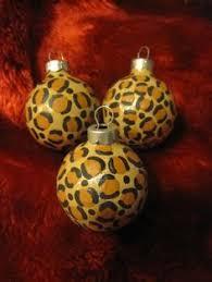 diy cheetah print ornaments a